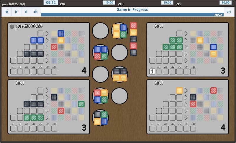 Azee Online Azul Boardgame